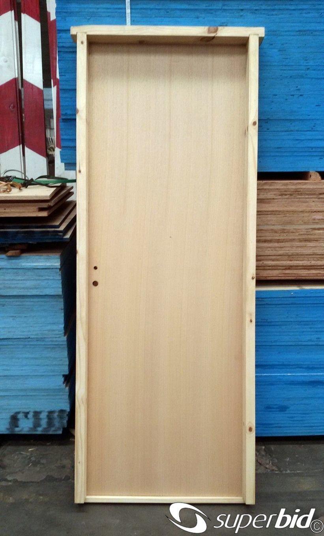 Subasta dePuerta placa de cedro/guatambu/cedrillo con marco de pino...